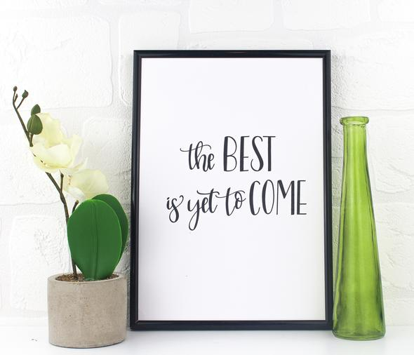 love row home motivational print the best is yet to come black owned jamii discount card discovery marketplace lockdown motivation