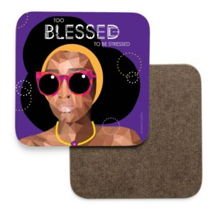jamii black owned business marketplace discount card black owned gift ideas mother's day leannecreative too blessed to be stressed coaster black girl magic
