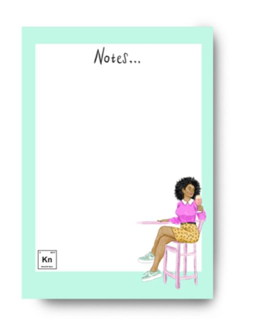 kitsch noir notepad stationery black owned jamii discount card discovery marketplace daily essentials