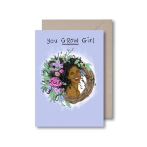 kitsch noir you grow girl greetings card black owned jamii discount card discovery marketplace lockdown motivation cards for her uplifting