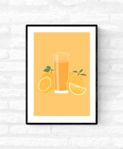 homeware springtime lovejamii uk jamii discount card marketplace black creators and makers black-owned business orange juice art print love row home
